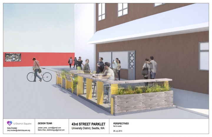 U District Parklet v3 Perspectives 1