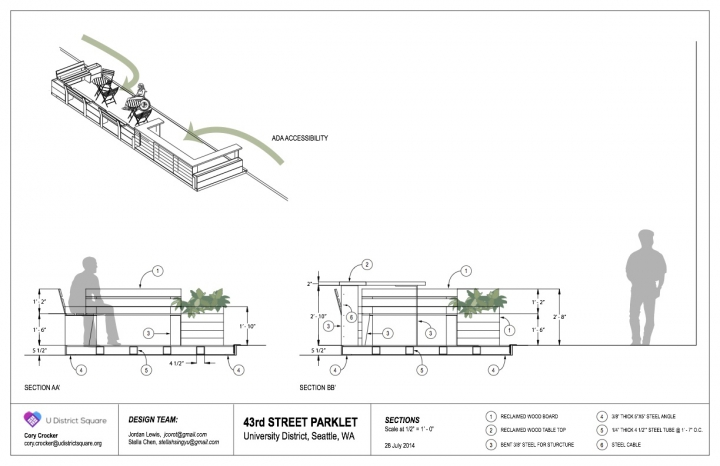 U District Parklet v3 Sections
