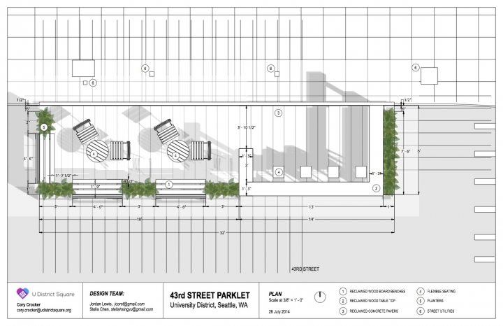U District Parklet v3 Plan