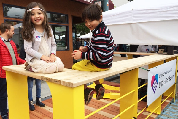 Parklet at Street Fair 2015 with Kids