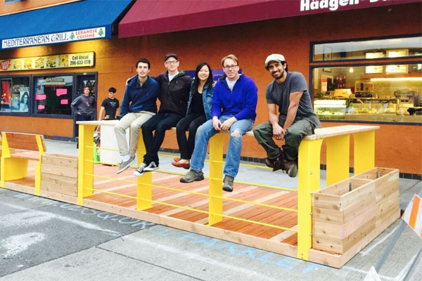 Parklet Design & Construction Team - Photo by Jordan Lewis
