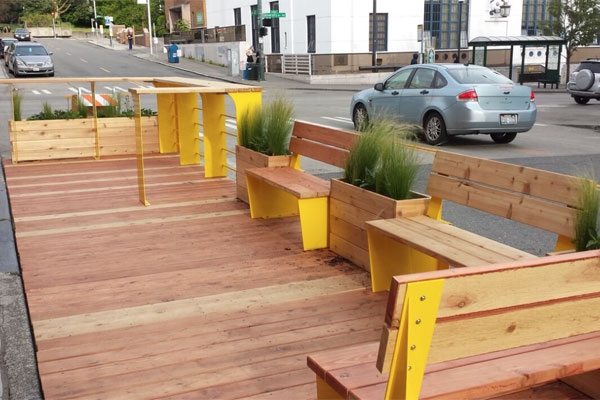 Soft Launch of the Parklet - Photo by Jordan Lewis