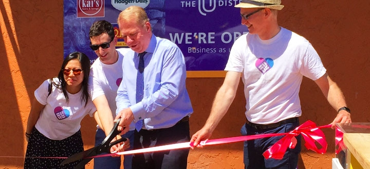 Ribbon-Cutting Ceremony with Mayor Ed Murray and the Design Team
