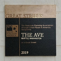 Great Streets Plaque